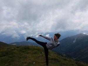 Vanessa in den Alpen